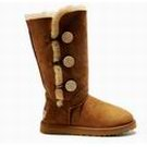 Ugg Chestnut Triplet Bailey Button Boots